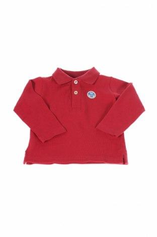 Detská blúzka  North Sails, Veľkosť 3-6m/ 62-68 cm, Farba Červená, Bavlna, Cena  10,67€