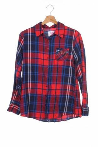 Dziecięca koszula Justice, Rozmiar 14-15y/ 168-170 cm, Kolor Kolorowy, 60% bawełna, 40% wiskoza, Cena 12,27zł