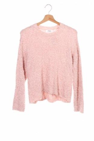 Детски пуловер Zara Kids, Размер 13-14y/ 164-168 см, Цвят Розов, 79% полиамид, 21% акрил, Цена 8,50лв.