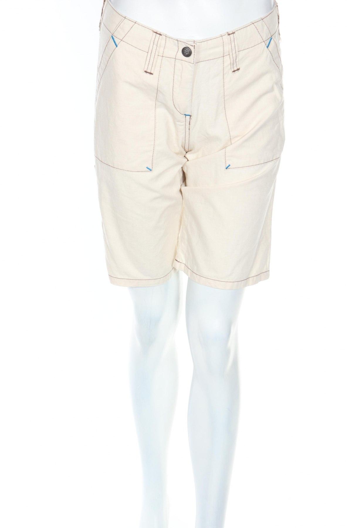 Γυναικείο κοντό παντελόνι Chillaz, Μέγεθος XS, Χρώμα Εκρού, 80% βαμβάκι, 20% λινό, Τιμή 7,82€