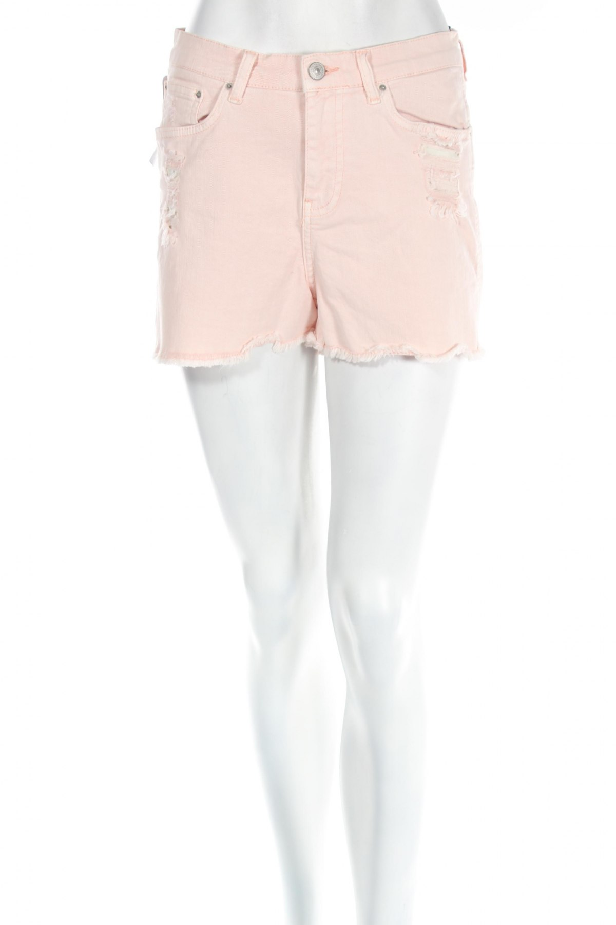 Дамски къс панталон Ltb, Размер S, Цвят Розов, 98% памук, 2% еластан, Цена 26,00лв.