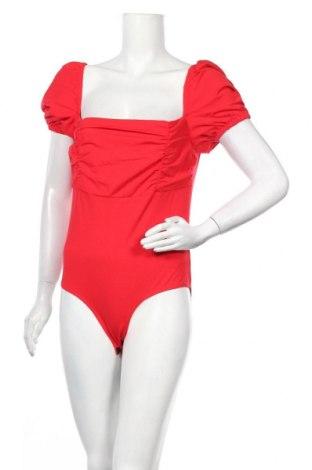 Γυναικεία μπλούζα-Κορμάκι Fashion Union, Μέγεθος L, Χρώμα Κόκκινο, 64% βισκόζη, 27% πολυαμίδη, 9% ελαστάνη, Τιμή 7,98€