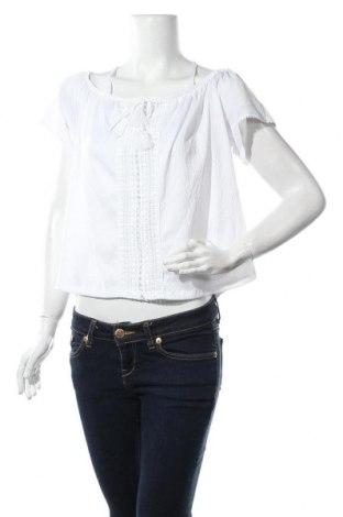 Дамска блуза H&M Divided, Размер L, Цвят Бял, 99% полиестер, 1% еластан, Цена 13,00лв.
