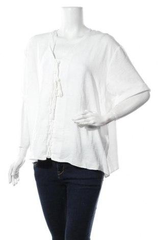 Дамска блуза New Look, Размер XXL, Цвят Бял, Полиестер, Цена 17,00лв.