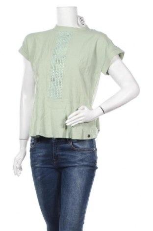 Γυναικεία μπλούζα Numph, Μέγεθος M, Χρώμα Πράσινο, Βαμβάκι, Τιμή 14,25€