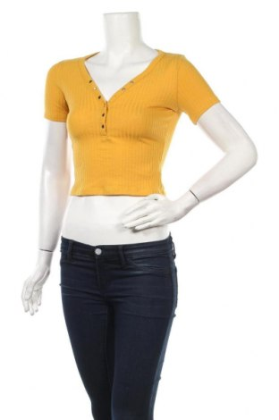 Γυναικεία μπλούζα Stradivarius, Μέγεθος S, Χρώμα Κίτρινο, 62% πολυεστέρας, 33% βισκόζη, 5% ελαστάνη, Τιμή 6,20€