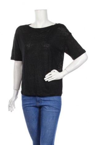 Дамска блуза Weekend Max Mara, Размер S, Цвят Черен, Лен, Цена 102,22лв.