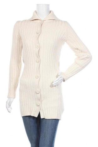Дамска жилетка H&M L.O.G.G., Размер XS, Цвят Екрю, Памук, Цена 6,30лв.