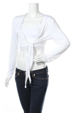 Γυναικεία ζακέτα Laura Torelli, Μέγεθος M, Χρώμα Λευκό, 95% βισκόζη, 5% ελαστάνη, Τιμή 3,55€