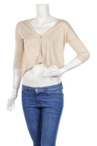 Дамска жилетка Zara Knitwear, Размер M, Цвят Бежов, 53% вискоза, 47% акрил, Цена 12,80лв.