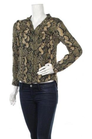 Дамска риза H&M, Размер S, Цвят Зелен, Вискоза, Цена 8,51лв.