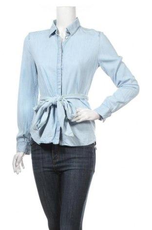 Дамска риза Marc Cain, Размер S, Цвят Син, 85% лиосел, 15% памук, Цена 103,95лв.