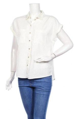 Дамска риза Yessica, Размер M, Цвят Бял, 55% лен, 45% памук, Цена 23,47лв.