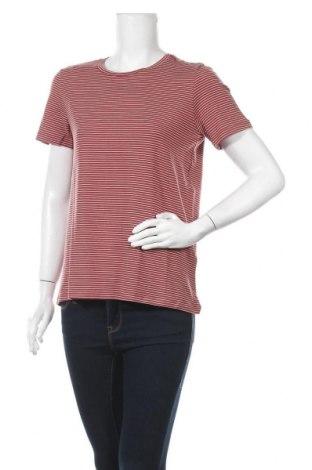 Γυναικείο t-shirt Aware by Vero Moda, Μέγεθος M, Χρώμα Καφέ, 95% lyocell, 5% ελαστάνη, Τιμή 5,78€