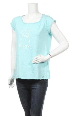 Γυναικείο t-shirt Belly Button, Μέγεθος M, Χρώμα Μπλέ, Βαμβάκι, Τιμή 13,15€