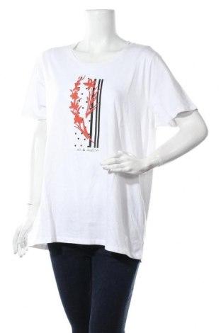 Дамска тениска Blue Seven, Размер XXL, Цвят Бял, Памук, Цена 28,60лв.