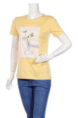Дамска тениска Boss Orange, Размер M, Цвят Жълт, Памук, Цена 77,40лв.