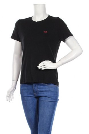 Дамска тениска Levi's, Размер L, Цвят Черен, Памук, Цена 35,36лв.