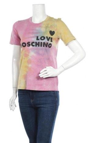 Γυναικείο t-shirt Love Moschino, Μέγεθος XS, Χρώμα Πολύχρωμο, Βαμβάκι, Τιμή 59,83€