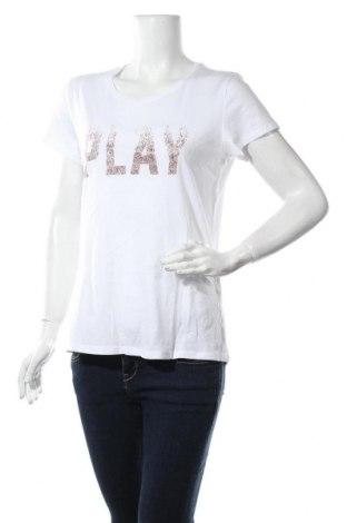 Дамска тениска ONLY, Размер XL, Цвят Бял, Памук, Цена 34,00лв.