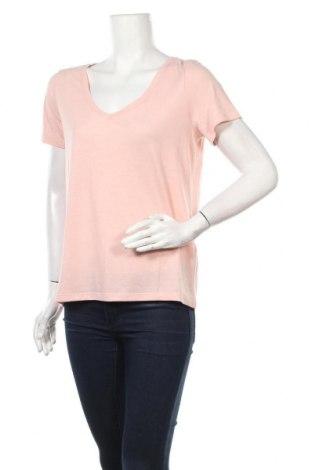 Дамска тениска Pieces, Размер M, Цвят Розов, 65% полиестер, 35% вискоза, Цена 18,85лв.