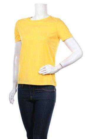 Γυναικείο t-shirt Pieces, Μέγεθος S, Χρώμα Κίτρινο, 65% πολυεστέρας, 35% βισκόζη, Τιμή 6,43€