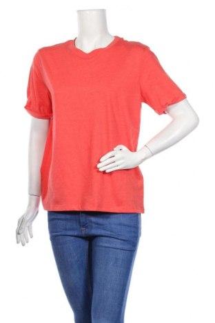 Дамска тениска Pieces, Размер L, Цвят Оранжев, 50% памук, 50% полиестер, Цена 29,00лв.