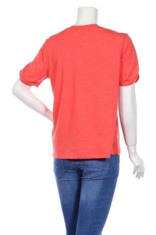 Дамска тениска Pieces, Размер L, Цвят Оранжев, 50% памук, 50% полиестер, Цена 15,95лв.