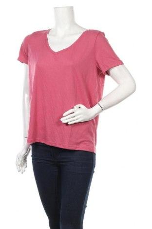 Дамска тениска Pieces, Размер L, Цвят Розов, 65% полиестер, 35% вискоза, Цена 20,40лв.