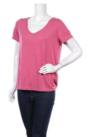 Дамска тениска Pieces, Размер L, Цвят Розов, 65% полиестер, 35% вискоза, Цена 10,24лв.