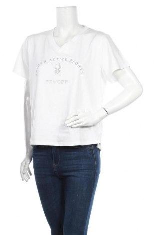 Дамска тениска Spyder, Размер L, Цвят Бял, 57% памук, 38% полиестер, 5% еластан, Цена 51,66лв.