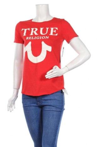 Дамска тениска True Religion, Размер XS, Цвят Червен, Памук, Цена 51,75лв.