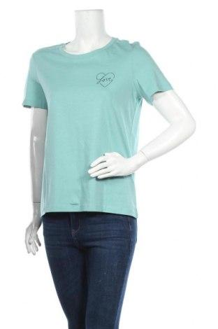 Дамска тениска Vero Moda, Размер M, Цвят Зелен, Памук, Цена 20,40лв.
