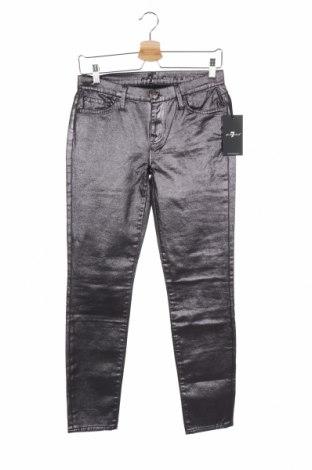 Дамски дънки 7 For All Mankind, Размер S, Цвят Лилав, 97% памук, 3% еластан, Цена 80,84лв.