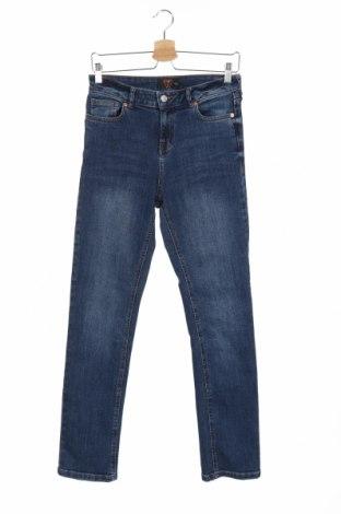 Дамски дънки F&F, Размер S, Цвят Син, 99% памук, 1% еластан, Цена 9,80лв.