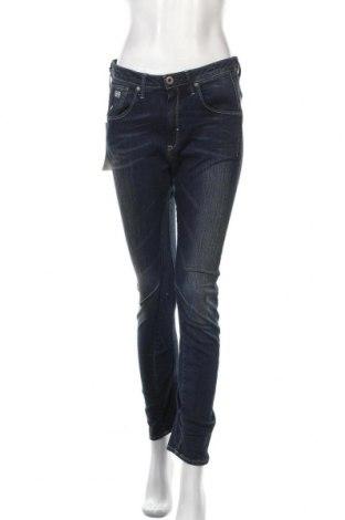 Дамски дънки G-Star Raw, Размер M, Цвят Син, 99% памук, 1% еластан, Цена 37,08лв.