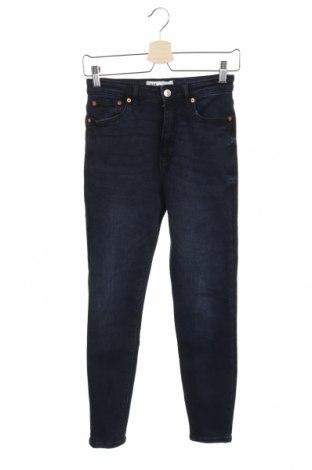 Дамски дънки Zara, Размер S, Цвят Син, Цена 35,70лв.