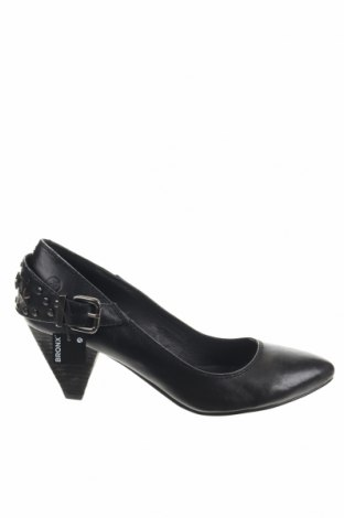 Γυναικεία παπούτσια Bronx, Μέγεθος 39, Χρώμα Μαύρο, Γνήσιο δέρμα, Τιμή 24,39€