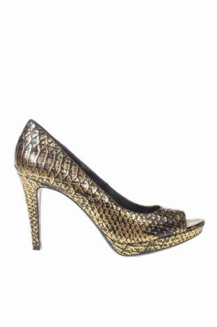 Дамски обувки Calvin Klein, Размер 39, Цвят Златист, Еко кожа, Цена 30,33лв.