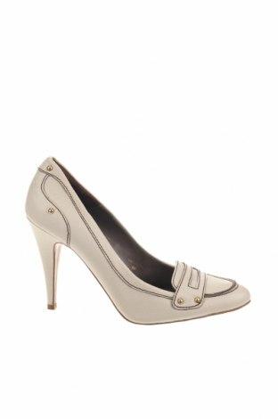 Γυναικεία παπούτσια Zara, Μέγεθος 38, Χρώμα  Μπέζ, Γνήσιο δέρμα, Τιμή 27,77€