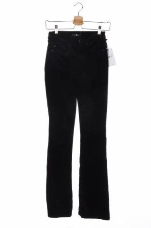 Дамски панталон 7 For All Mankind, Размер S, Цвят Черен, 54% памук, 35% модал, 8% полиестер, 3% полиуретан, Цена 73,96лв.