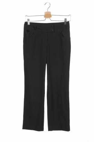 Дамски панталон Clubclass, Размер XS, Цвят Сив, 64% полиестер, 34% вискоза, 2% еластан, Цена 7,81лв.