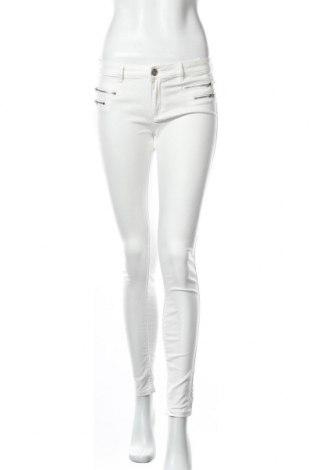 Γυναικείο παντελόνι Famous, Μέγεθος S, Χρώμα Λευκό, 65% βαμβάκι, 30% πολυαμίδη, 5% ελαστάνη, Τιμή 17,32€