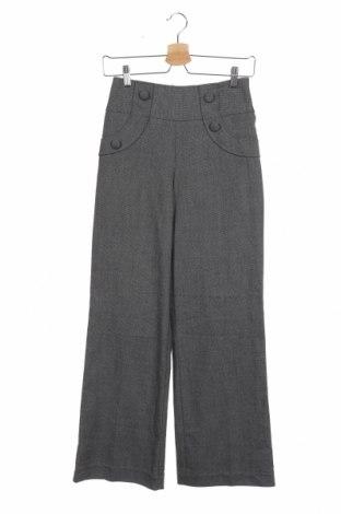 Дамски панталон Review, Размер XS, Цвят Сив, 69% полиестер, 29% вискоза, 2% еластан, Цена 7,09лв.