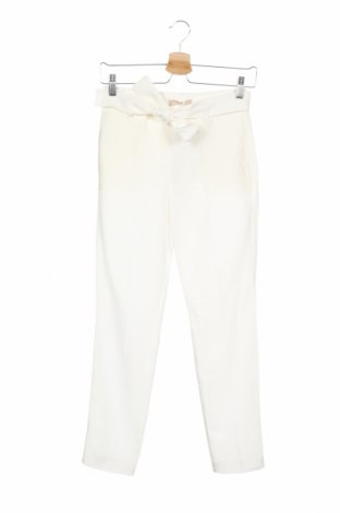 Γυναικείο παντελόνι Stefanel, Μέγεθος XXS, Χρώμα Λευκό, 75% lyocell, 25% λινό, Τιμή 23,92€