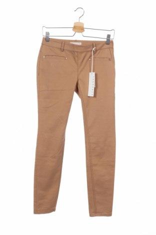 Дамски панталон Stefanel, Размер XS, Цвят Кафяв, 96% памук, 4% еластан, Цена 28,08лв.