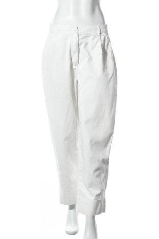 Дамски панталон Weekday, Размер M, Цвят Бял, Памук, Цена 28,56лв.