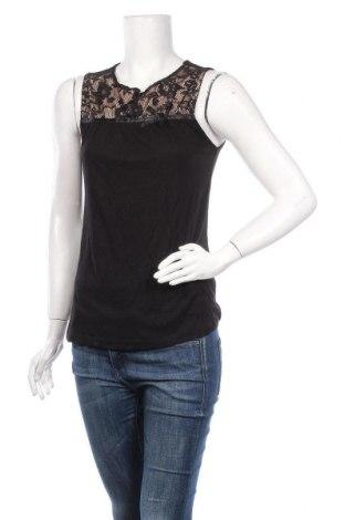 Γυναικείο αμάνικο μπλουζάκι About You, Μέγεθος S, Χρώμα Μαύρο, Βισκόζη, πολυεστέρας, Τιμή 4,91€