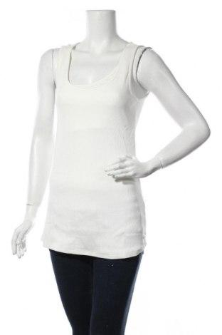 Γυναικείο αμάνικο μπλουζάκι Belly Button, Μέγεθος L, Χρώμα Λευκό, 95% βαμβάκι, 5% ελαστάνη, Τιμή 13,15€