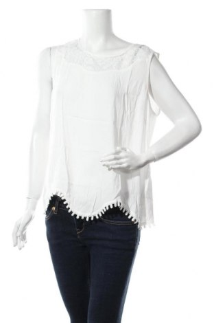 Γυναικείο αμάνικο μπλουζάκι Cream, Μέγεθος L, Χρώμα Λευκό, Βισκόζη, Τιμή 12,59€
